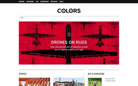 Screenshot of Home Page colorsmagazine.com - COLORS Magazine - captured Dec. 4, 2015