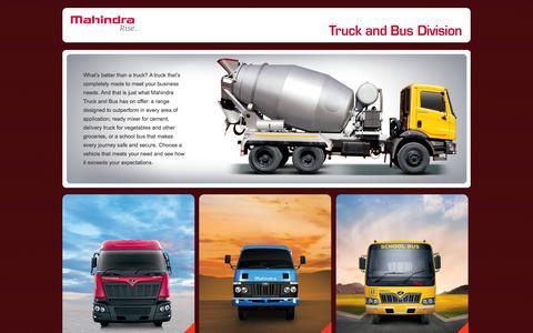 Screenshot of Home Page mahindranavistar.com - Official Website of Mahindra Navistar Trucks, Mahindra Fuel Trucks - India - captured Oct. 3, 2014