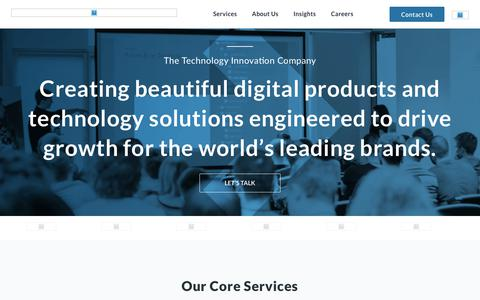 Screenshot of Home Page sphereinc.com - Sphere | Digital Innovations and Emerging Technology Consulting Company - captured March 15, 2019