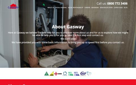 Screenshot of About Page gasway.co.uk - Gasway   About   New Boiler   Engineers - captured Jan. 26, 2016