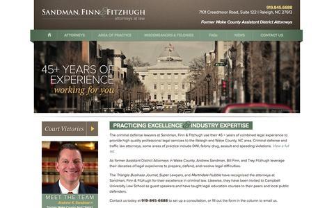 Screenshot of Home Page capitalcriminaldefense.com - Criminal Defense Lawyers Raleigh NC | Traffic Violation Attorneys - captured Oct. 4, 2014