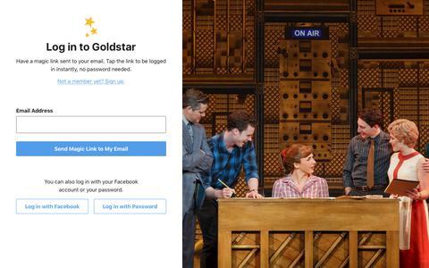 Log in | Goldstar