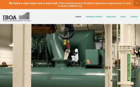 Screenshot of Home Page intboa.org - Intermountain Building Operators Association (IBOA) - captured June 19, 2015