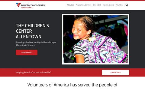 Screenshot of Home Page voapa.org - Homepage | Volunteers of America - captured Feb. 15, 2016