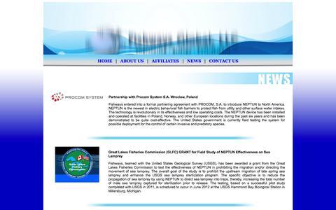 Screenshot of Press Page fishwaysglobal.com - News | Fishways Global - captured Oct. 1, 2014