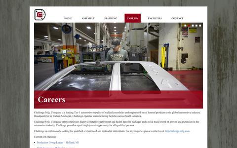 Screenshot of Jobs Page challenge-mfg.com - Challenge Mfg. Company - captured Oct. 2, 2014