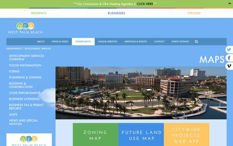 Screenshot of Maps & Directions Page wpb.org - WPB | City of West Palm Beach Development Services - captured Oct. 26, 2018