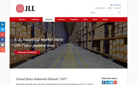 Industrial real estate market trends and outlook | Q1 2017