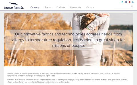 Screenshot of About Page Contact Page americantextile.com - Company - American Textile Company - captured Nov. 21, 2018