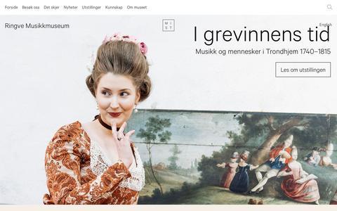 Screenshot of Home Page ringve.no - Forside - Ringve Musikkmuseum - captured Dec. 22, 2016