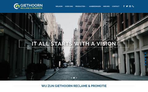 Screenshot of Home Page reclamebedrijf.com - Giethoorn Reclame & Promotie – Full service reclame & Promotie - captured Nov. 15, 2018