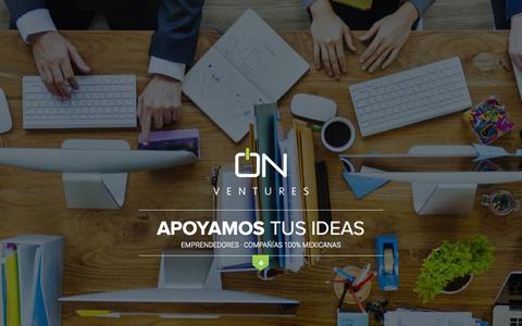 Screenshot of Home Page onventures.mx - OnVentures | Apoyamos tus ideas - captured Aug. 16, 2015