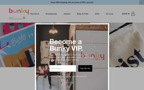 Screenshot of Blog bunkyboutique.com - bunky boutique — BLOG - captured Nov. 6, 2018