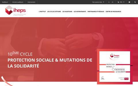 Screenshot of Home Page iheps.com - iheps.com - Institut des Hautes Etudes de Protection Sociale - captured Nov. 28, 2018