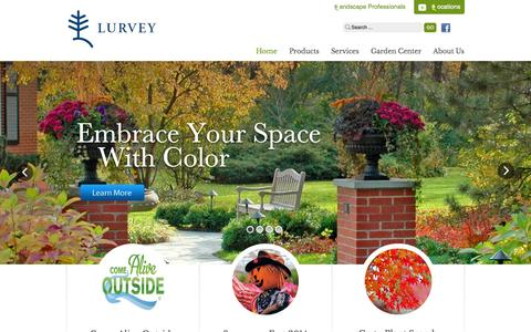 Screenshot of Home Page lurveys.com - Quality Landscaping Materials | Lurvey Landscape Supply - captured Oct. 3, 2014