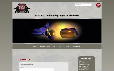 Screenshot of Contact Page tkallc.com - Contact Us | TKA - captured Oct. 9, 2014
