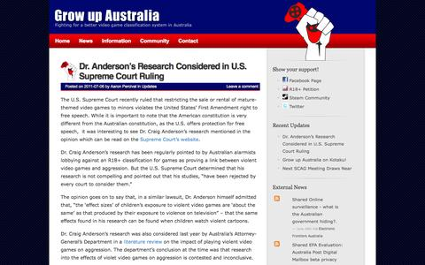 Screenshot of Press Page growupaustralia.com - Latest Updates | Grow up Australia - captured Sept. 30, 2014