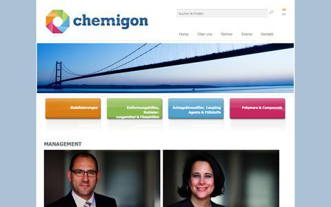 Screenshot of Team Page chemigon.de - CHEMIGON: Management bei transatlantischen Expansionen - captured Oct. 21, 2018