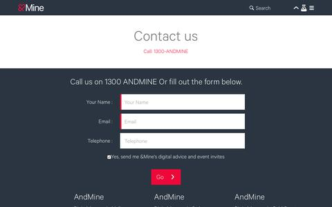 Contact Digital Agency Melbourne & Sydney   AndMine
