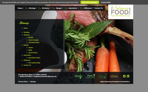 Screenshot of Site Map Page theculinaryfoodgroup.com - Specialty Food Suppliers - Sitemap - The Culinary Food Group - captured Oct. 25, 2014