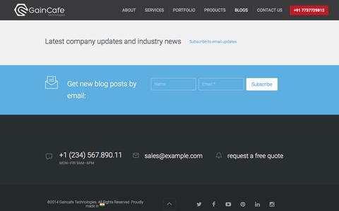Screenshot of Blog gaincafe.com - Our Blogs - Gaincafe Technologies, Sikar, India - captured Dec. 7, 2015