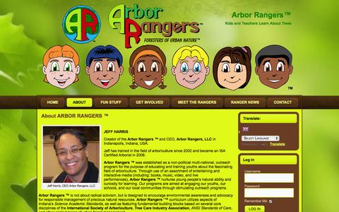 Screenshot of About Page arborrangers.com - About ARBOR RANGERS ™ | Arbor Rangers™ - captured Oct. 4, 2014