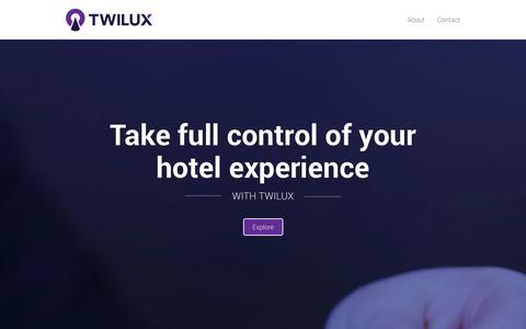 Screenshot of Home Page twilux.com - Twilux - captured Oct. 9, 2014