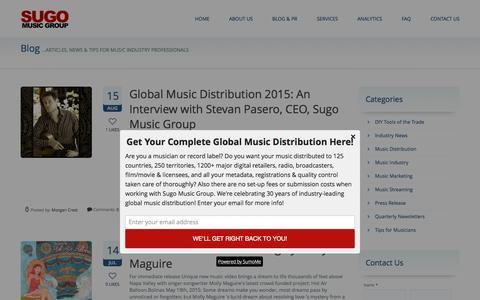 Screenshot of Blog sugomusic.com - Blog - Sugo Music Group - captured Sept. 23, 2015