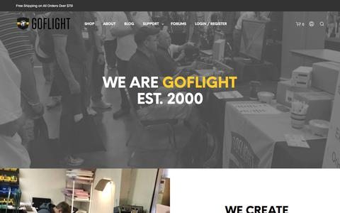 Screenshot of About Page goflightinc.com - About Us – Company – GoFlight - captured July 21, 2018