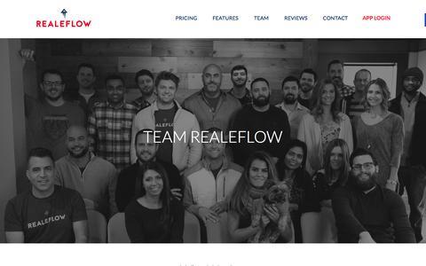 Screenshot of Team Page realeflow.com - Team - Realeflow - captured Jan. 10, 2016