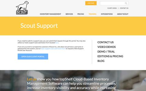 Screenshot of Support Page scoutsft.com - Software Support   Scout - captured July 8, 2017