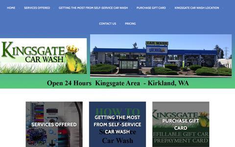 Screenshot of Home Page kingsgatecarwash.com captured Aug. 9, 2016