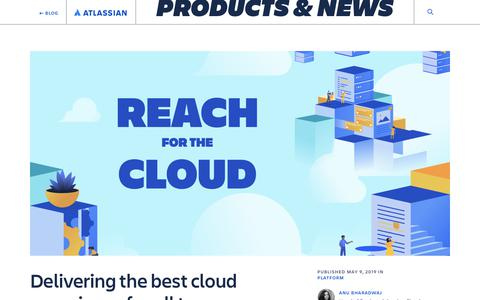 Screenshot of Blog atlassian.com - Delivering the best cloud experience for all teams - Work Life by Atlassian - captured Feb. 8, 2020