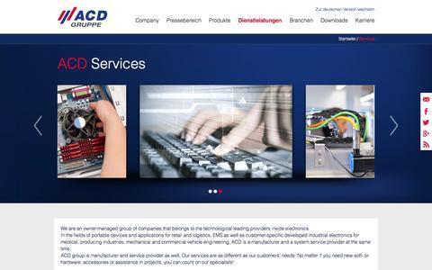 Screenshot of Services Page acd-gruppe.de - Dienstleistungen - captured Nov. 19, 2016