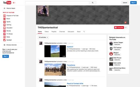 Screenshot of YouTube Page youtube.com - THESpartantactical  - YouTube - captured Oct. 29, 2014