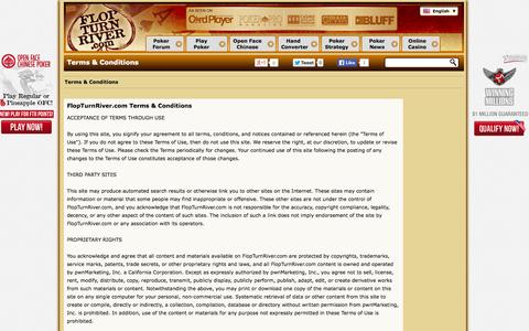 Screenshot of Terms Page flopturnriver.com - FTR Terms & Conditions - captured Sept. 25, 2014