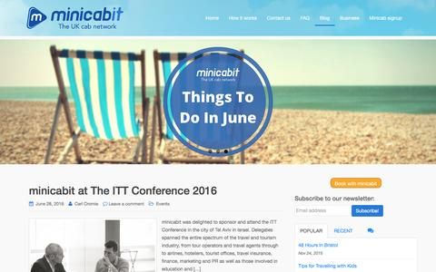 Screenshot of Blog minicabit.com - minicabit Blog - captured July 4, 2016