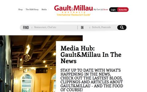 Screenshot of Press Page gaultmillau.com.au - Gault&Millau Australia - captured Oct. 2, 2014