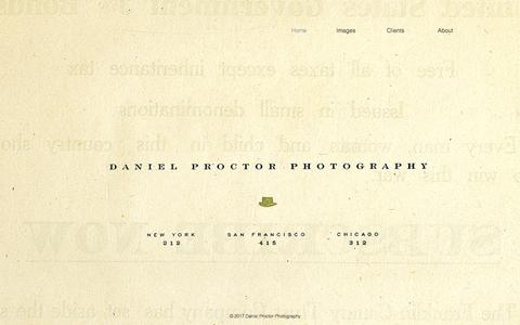 Screenshot of Home Page danielproctor.net - Daniel Proctor Photography - captured Oct. 26, 2017