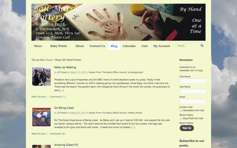 Screenshot of Blog saltmarsh.com - Blogs, Salt Marsh Pottery - captured Oct. 3, 2014