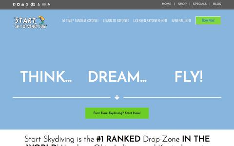 Screenshot of Home Page startskydiving.com - Start Skydiving Ohio, Indiana, and Kentucky | Start Skydiving - captured Sept. 21, 2018