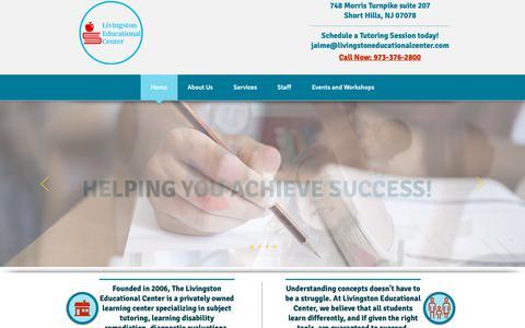 Screenshot of Home Page livingstoneducationalcenter.com - Tutoring Center | Short Hills | Livingston Educational Center - captured Sept. 29, 2018