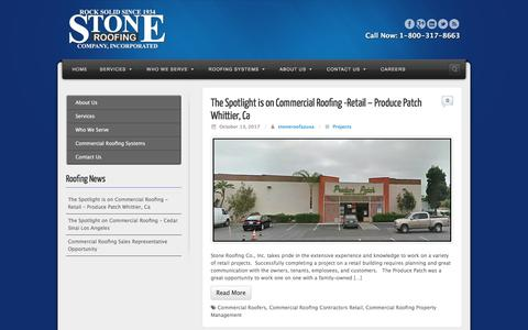 Screenshot of Blog stoneroof.com - Roofing Blog - Stone Roof Commercial Roofing - captured Oct. 25, 2017