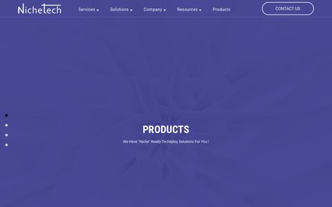 Screenshot of Products Page nichetechsolutions.com - Products | Nichetech - captured Nov. 7, 2018