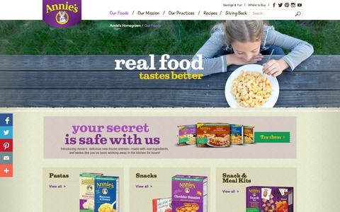 Screenshot of Products Page annies.com - Annie's Natural & Organic Products - captured Sept. 25, 2014