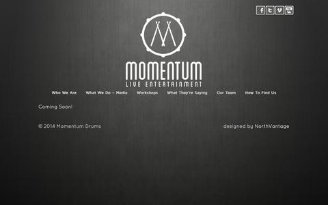 Screenshot of Team Page momentumdrums.com - Our Team - captured Oct. 26, 2014