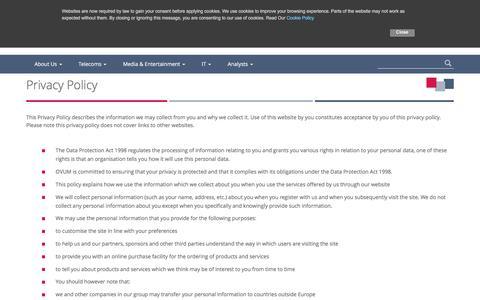Screenshot of Privacy Page ovum.com - OvumPrivacy Policy - Ovum - captured Aug. 15, 2016