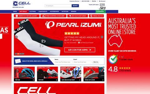 Screenshot of Home Page cellbikes.com.au - BEST Mountain Bikes|Road Bikes|City Bikes|Fixie Bikes for Sale in Australia - captured Dec. 7, 2015