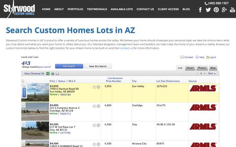 Screenshot of Maps & Directions Page starwoodcustom.com - Search Custom Home Lots in AZ | Starwood - captured Sept. 27, 2016