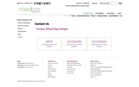 Screenshot of Contact Page mixedbagdesigns.com - Contact Us | Mixed Bag Designs - captured Oct. 7, 2014